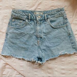 top shop jean shorts
